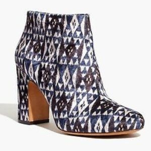 Madewell Clean Bootie Patterned Velvet